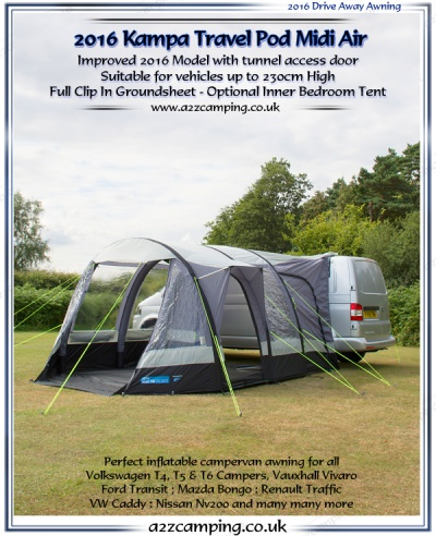 2016 Kamap Travel Pod Midi Air Inflatable Campervan Awning